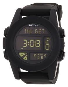 Nixon A197000-00 - Reloj digital de cuarzo para hombre con correa de plástico, color negro de Nixon