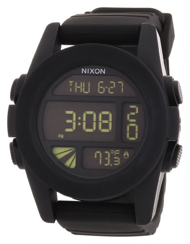 Nixon Unisex Analogue Watch with black Dial Analog - Digital Display - A197000-00