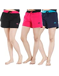 Nite Flite Women's Cotton Hot Shorts - Pack of 3