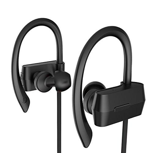 Sunvito Bluetooth V4.1 Headset, Sweatproof Sport drahtloser Kopfhörer In-Ear-Ohrhörer mit Mikrofon für Lauftraining Gym (Stereo, Geräusch-Annullierung, 6 Stunden Spielzeit, Sichere Ohrbügel Design) - 5