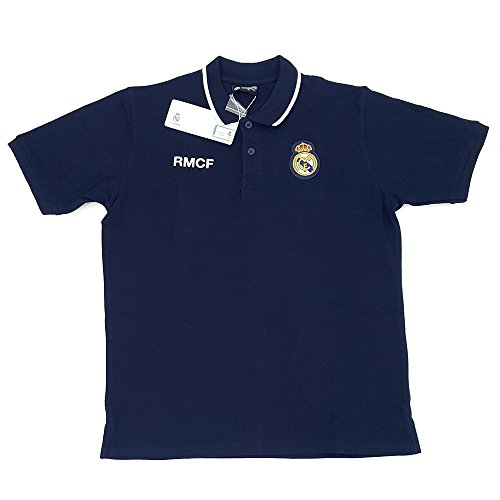 Polo Real Madrid adulto marino escudo bordado [AB3914]