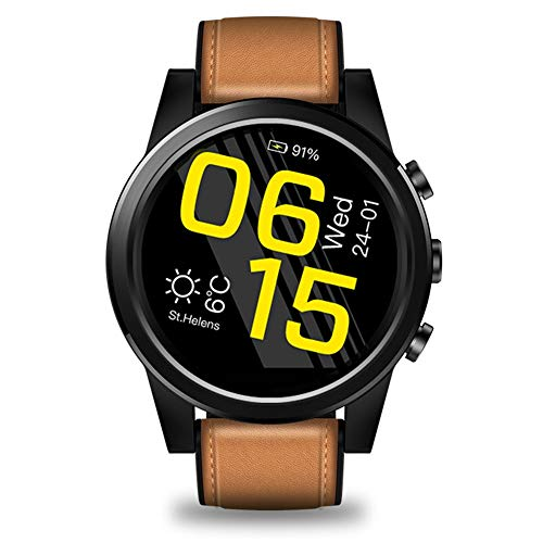 4G Smart Watch 1,6 Zoll Kristall Display GPS/GLONASS Quad Core 16 GB 600 mAh 5MP Rückfahrkamera SmartWatch (Color : Yellow)