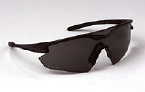 ERB 16701 Point Safety Glasses, Black Frame with Smoke Lens by ERB