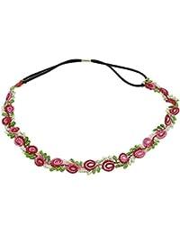 BONAMART ® Damen Mädchen Elegant Hippie Blumen Stoff Stirnband Haarband