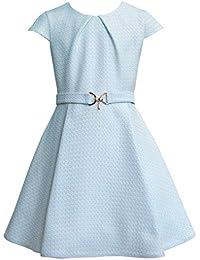 8a63b808230 generisch SLY Mädchen Kleid Festlich Einschulung Blumenmädchen Hochzeit  Jugendweihe hell Blau hergestellt in ...
