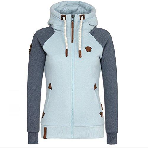 CanVivi Kaputzenpullover Damen Hoodie Pullover Sweatshirt Sweatjacke Sweatshirt ,Grau,M