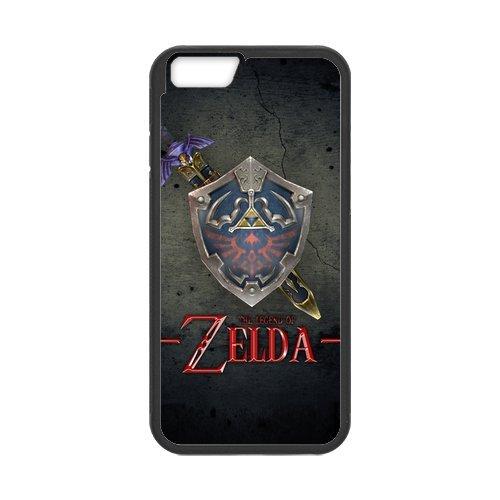 The Legend of Zelda Design Durable TPU Case Cover Étui Coque de Protection pour Apple iPhone 66S, iPhone 6(4,7pouces), iPhone 6/6S Étui cover case (Blanc/Noir)