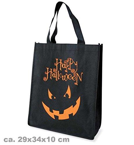 Kostüm Edward Bella - narrenwelt Halloween Tasche groß Halloweentasche mit Aufdruck schwarz