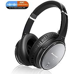 Casque Bluetooth Sans Fil Antibruit - Hiearcool Headphones Wireless Reduction de Bruit Universel Portable,Stéréo Qualité HIFI, pour tous les Appareils tels que Mobile, PC, etc. ou Jack 3,5 mm