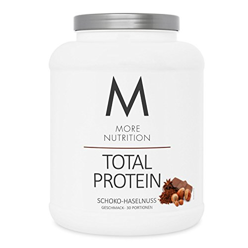 More Nutrition Total Protein - Whey & Casein Zur Optimalen Proteinsynthese 1 x 1500 g (Schoko Haselnuss)