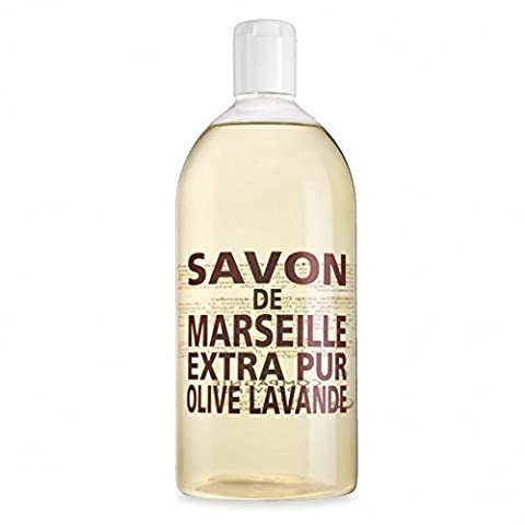 Compagnie de Provence Liquid Marseille Soap Olive & Lavender 33.8oz Refill Plastic Bottle by OLFATTORIO
