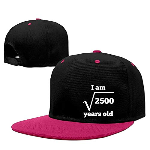 Hxincyu Men&Women 50 Years Old Square Root Funny 50th Birthday Travelling Sanpback Cap Hat Adjustable -