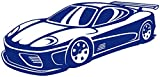 Samunshi® Wandtattoo Super Sportwagen Wandaufkleber Rennauto Rennwagen Wandsticker in 10 Größen und 25 Farben (100x48cm königsblau)