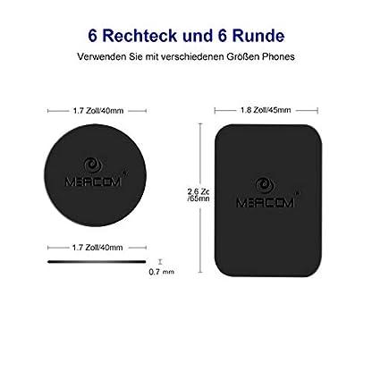 MEACOM-Metallplttchen-Set-4-Stck-Handy-Halterung-Metall-Plttchen-Ersatz-3M-Rckseite-Magnet-KFZ-Halterungen-Metallplatte-Phone-Halter-Platte-fr-Handy-und-GPS