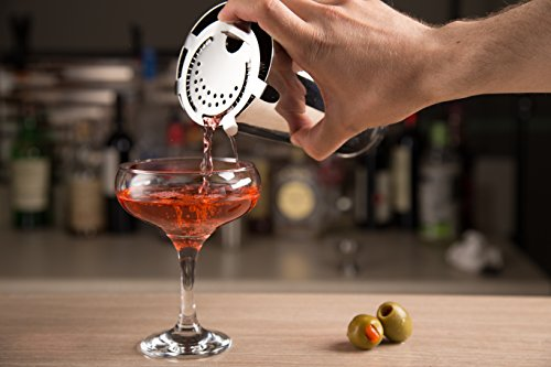 chefland 13-teiliges Edelstahl Bar Set/Bar Werkzeuge inkl. Shaker/Jigger/Korkenzieher/Öffner/Siebkörbchen