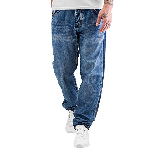 Rocawear Herren Jeans / Antifit Tapered Loose Fit jersey was