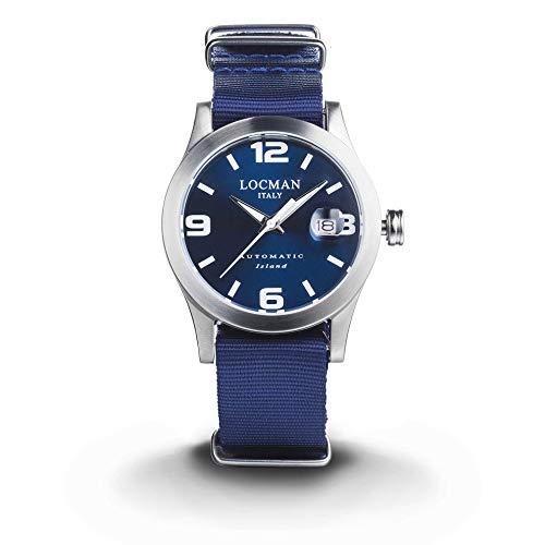 orologio meccanico uomo Locman Island casual cod. 0615V04-00BLWNYB