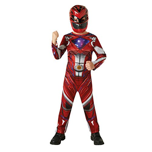 Rubie's 3630710 - Red Power Rangers 2017 Classic, Action Dress Ups und Zubehör, M (Power-ranger-zubehör)