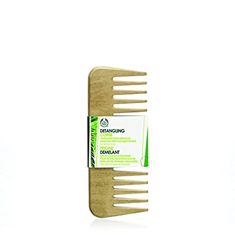 The Body Shop Detangling Hair Comb FOR ALL HAIR TYPES - Made From Birch Wood