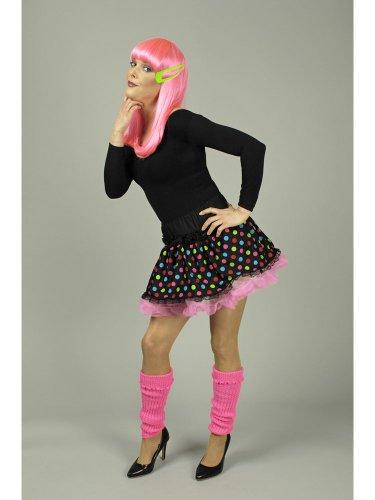Das Kostümland Clown Minirock Petticoat Punkte schwarz-bunt 44/46