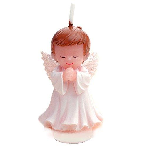 arikatur-Geburtstags-Kerze, Hochzeits-Kerze, rauchlose Kuchen-Kerze für Partei, reizend Geschenk, Babyparty und Hochzeit (Weißer Engeljunge) (Personalisierte Baby-dusche Partei Begünstigt)