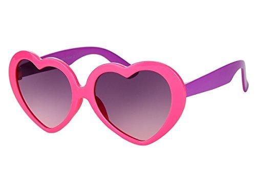 Alsino Mädchen Brille Herzbrille Kinder Sonnenbrille Viper Herzform, Variante wählen:K-93 pink lila