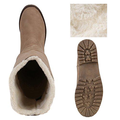 Stiefelparadies , bottines classiques femme Kaki