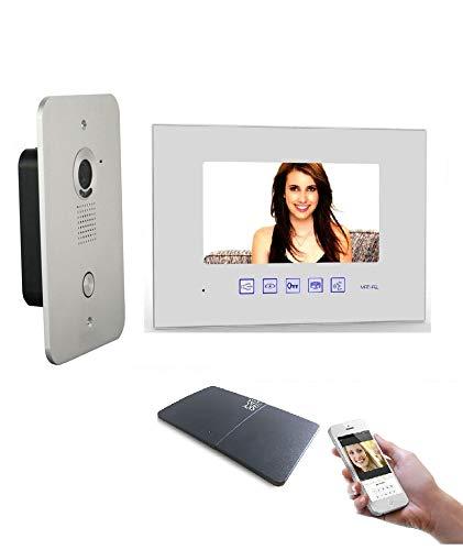 2 Draht Video Türsprechanlage Gegensprechanlage 7\'\' Monitor mit WLAN Schnittstelle