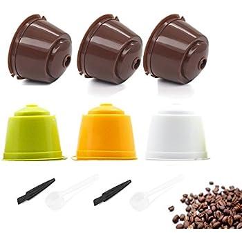 TANGGER Cápsulas Filtros de Café Recargable Reutilizable 6pcs el ...