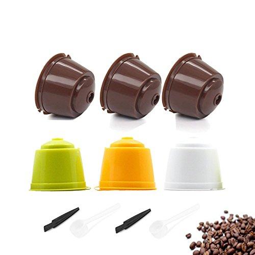 TANGGER 6PCS Kaffeekapsel Wiederverwendbare Nachfüllbare Kapseln Kaffeefilter Kaffee Kapseln Dolce...