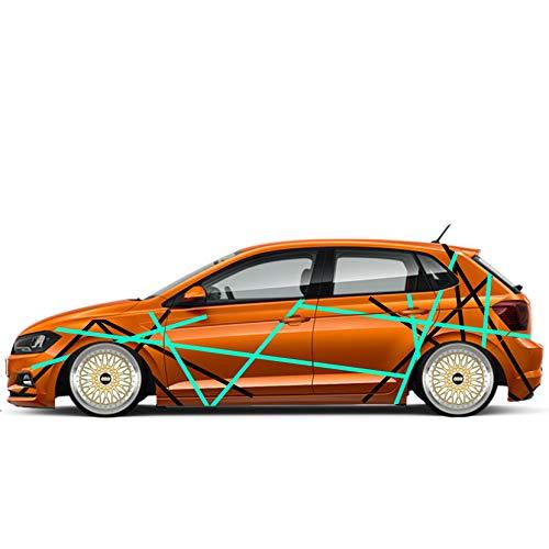 Auto Seiten Aufkleber Car-Tattoo Sticker Streifen-LININEN 3cm Breite Fahrzeug Bekleben Dekor