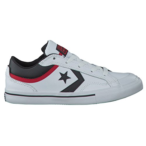 Converse Youths Pro Blaze Ox Leather Trainers Schwarzweiß