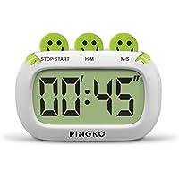 PINGKO Digital Küchentimer, Fashion Design mit großen Ziffern lauten Alarm - Grün