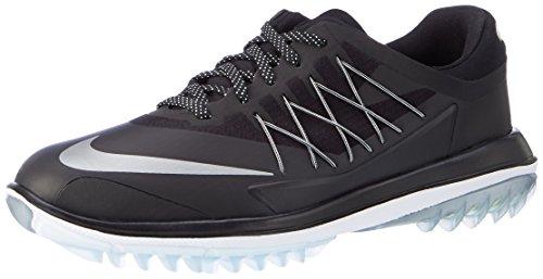Nike Lunar Control Vapor, Scarpe da Golf Uomo, Nero (Black/Metallic Silver/White), 41 EU