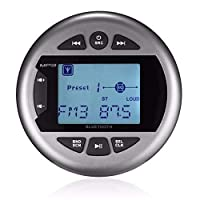 ‏‪Herdio Marine Gauge Stereo -Boat Golf Cart Motorcycle AM Radio Digital Media Receiver MP3 Player USB AUX in‬‏
