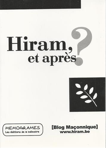 Hiram et après ? par Jiri Pragman