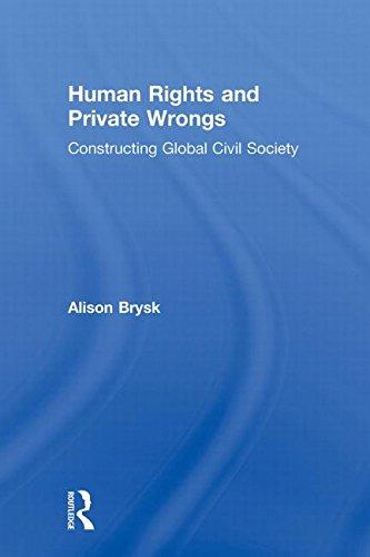 Human Rights and Private Wrongs: Constructing Global Civil Society (Global Horizons)