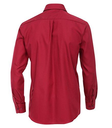 CASAMODA Herren Regular Fit Businesshemd 006050/80 Rosso (Rot)