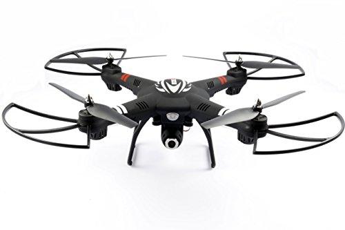 Preisvergleich Produktbild 2.4 GHz RC Quadrocopter Icarus 2.0 mit HD Kamera RC Drohne 7,4 V 1500 mAh Akku ferngesteuerter Quadrocopter Drohne Quadcopter - Höhensensor - einstellbarer Gimbal - Outdoor (mit Kamera)