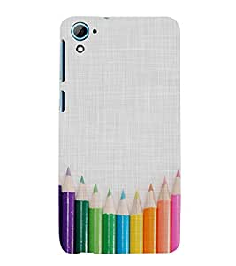 CLOURFULL PENCILS ON A CLOTH PIC 3D Hard Polycarbonate Designer Back Case Cover for HTC Desire 826 :: HTC Desire 826 Dual Sim :: HTC Desire 826 DS (GSM + CDMA)