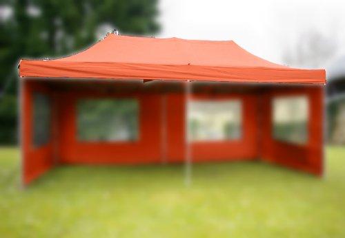 Ersatzdach für Falt Pavillon 3x6 m terracotta Dachplane 270g/m² 300 D PVC Coating versiegelte Nähte wasserdicht Pavillondach