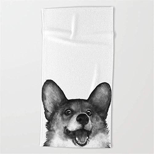 GHEDPO Strandtücher Handtücher Corgi Beach Towel 31x51 Inches