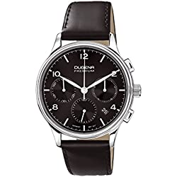 Dugena Herren-Armbanduhr MINOR CHRONO Chronograph Quarz Leder 7000243