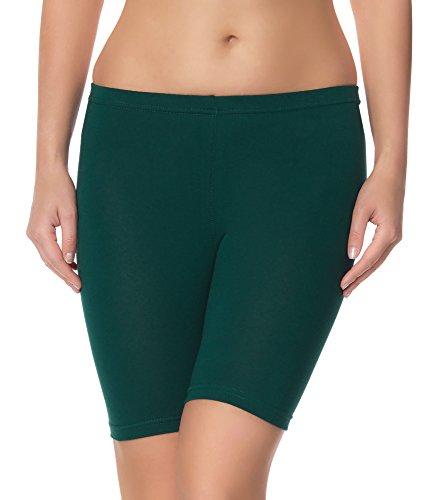 Ladeheid Damen Shorts Radlerhose Unterhose Hotpants Kurze Hose Boxershorts LAMA04 (Dunkelgrün2, L/XL (Herstellergröße: 40/42)) -
