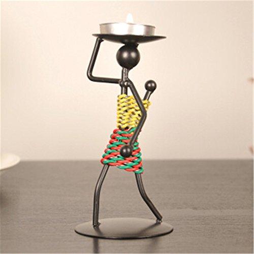 Youxd Crafts Retro Eisen Kerzenständer aus Metall handgefertigt, geeignet für Hochzeit Valentinstag Einweihungsparty Geschenke kreative Dekorationen Dunkelbraun
