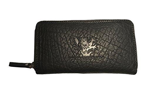 Feldmoser 1414 Lilly Buff Black Geldbörse Etui Damen Hochwertigstes Büffel Leder (L) (Black Wallet Roxy)