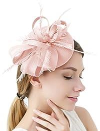 FAYBOX BRIDAL Damen Elegant Fascinator Hut Braut Hair Clip Accessoires Cocktail Royal Ascot