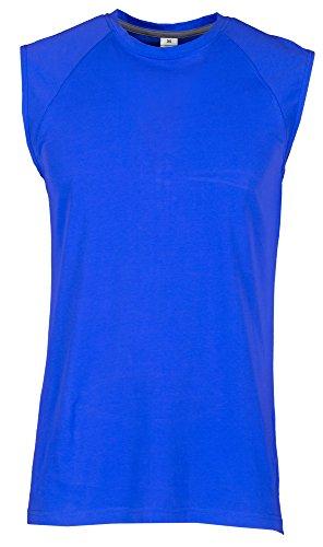 T-Shirt Da Lavoro Maglietta Smanicata 100% Cotone Taglio Raglan Payper Shore, Colore: Royal, Taglia: XL