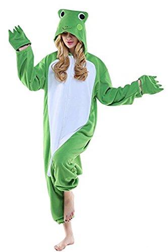 Mystery&Melody Erwachsenen Frosch Pyjamas Overall Halloween Kostüm Unisex Tier Schlafanzug Cosplay Overall Pyjamas