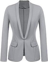 7dd7e21f0182 Damen Mäntel Business OL Stil Tasche Blazer Elegante dünne Jacke Arbeit Büro  Anzug Mantel